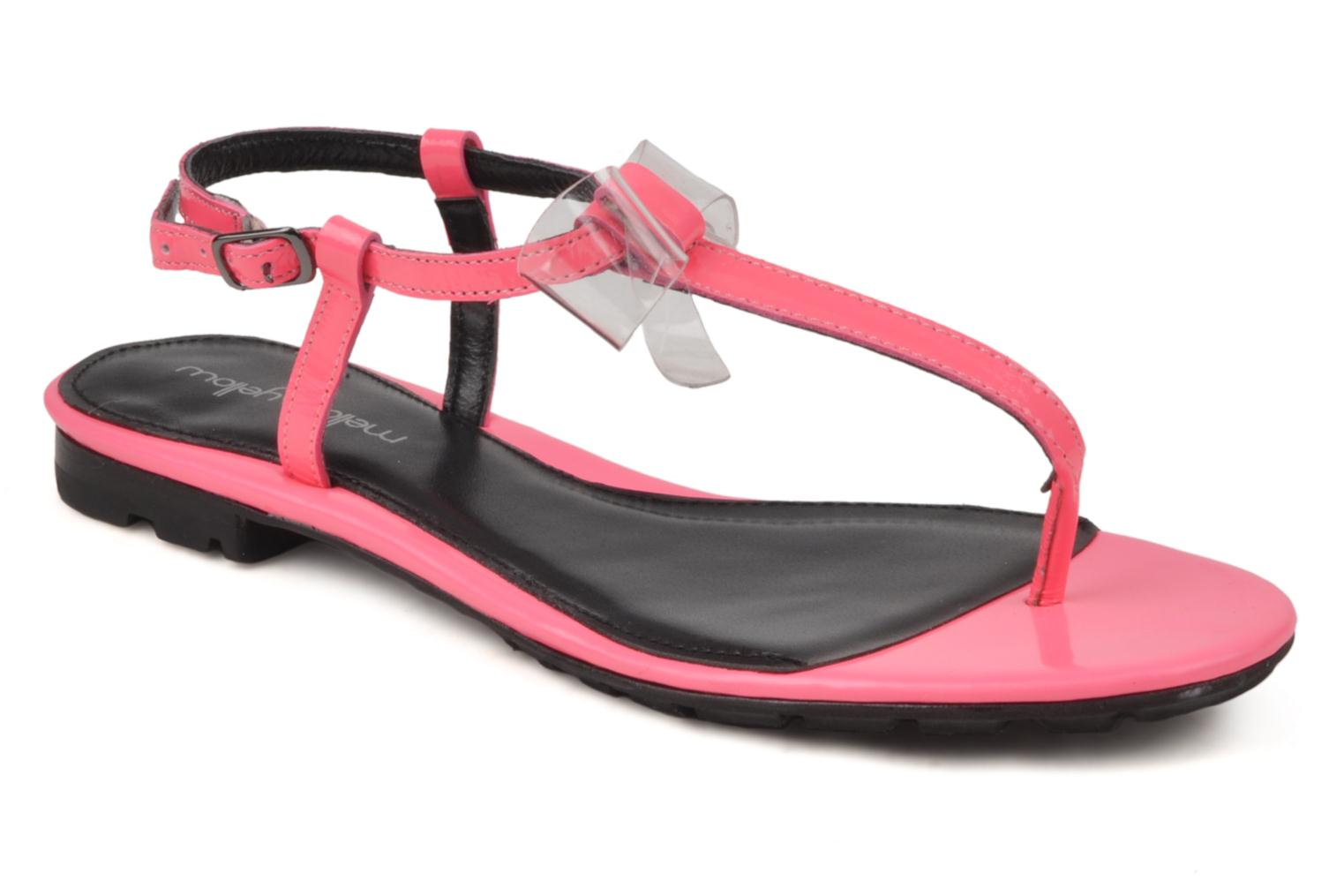 Sandals Mellow Yellow Hektok Pink detailed view/ Pair view