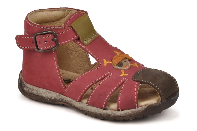 Sandales et nu-pieds Bopy Porsair Rouge vue détail/paire