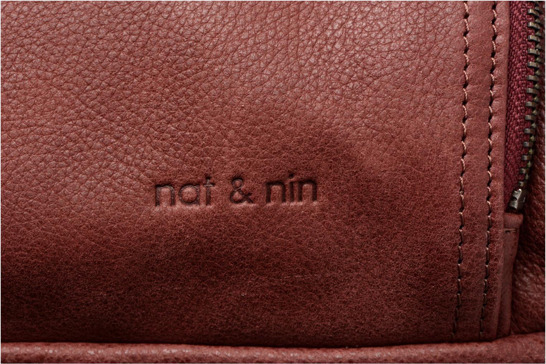Sacs à main Nat & Nin Macy Bordeaux vue gauche