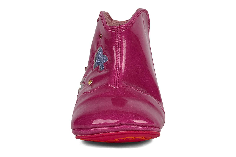 Chaussons Agatha Ruiz de la Prada Moustika Rose vue portées chaussures