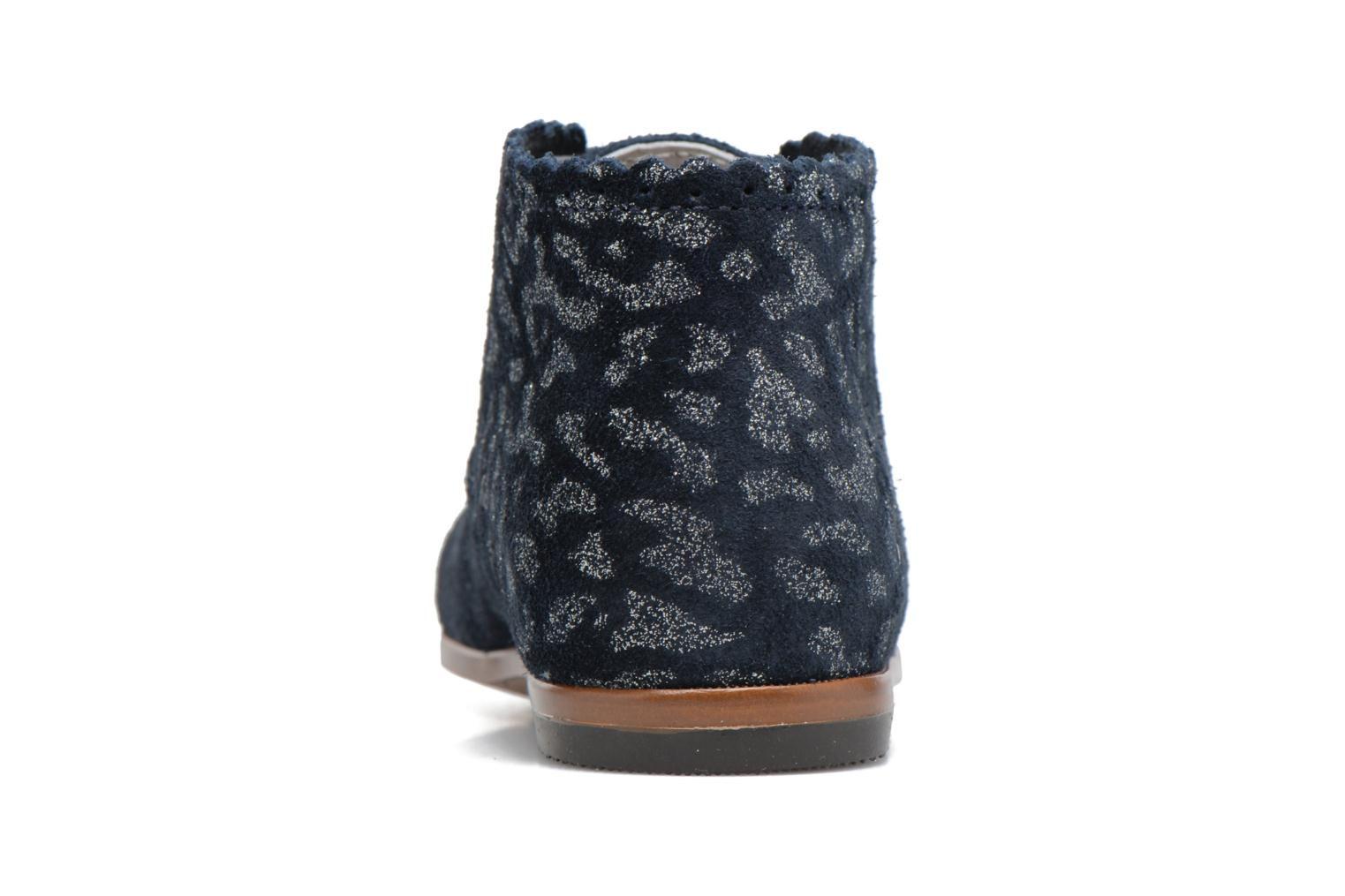 Botines  Little Mary Vivaldi Azul vista lateral derecha
