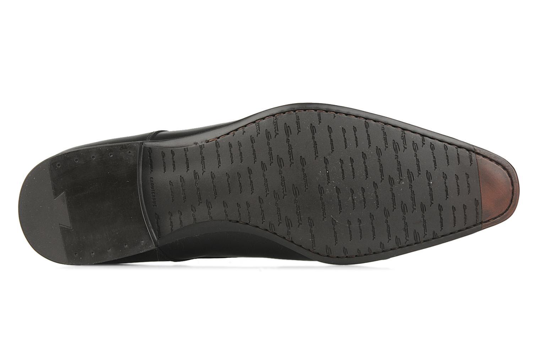 Chaussures à lacets Santoni William 10096 Noir vue haut