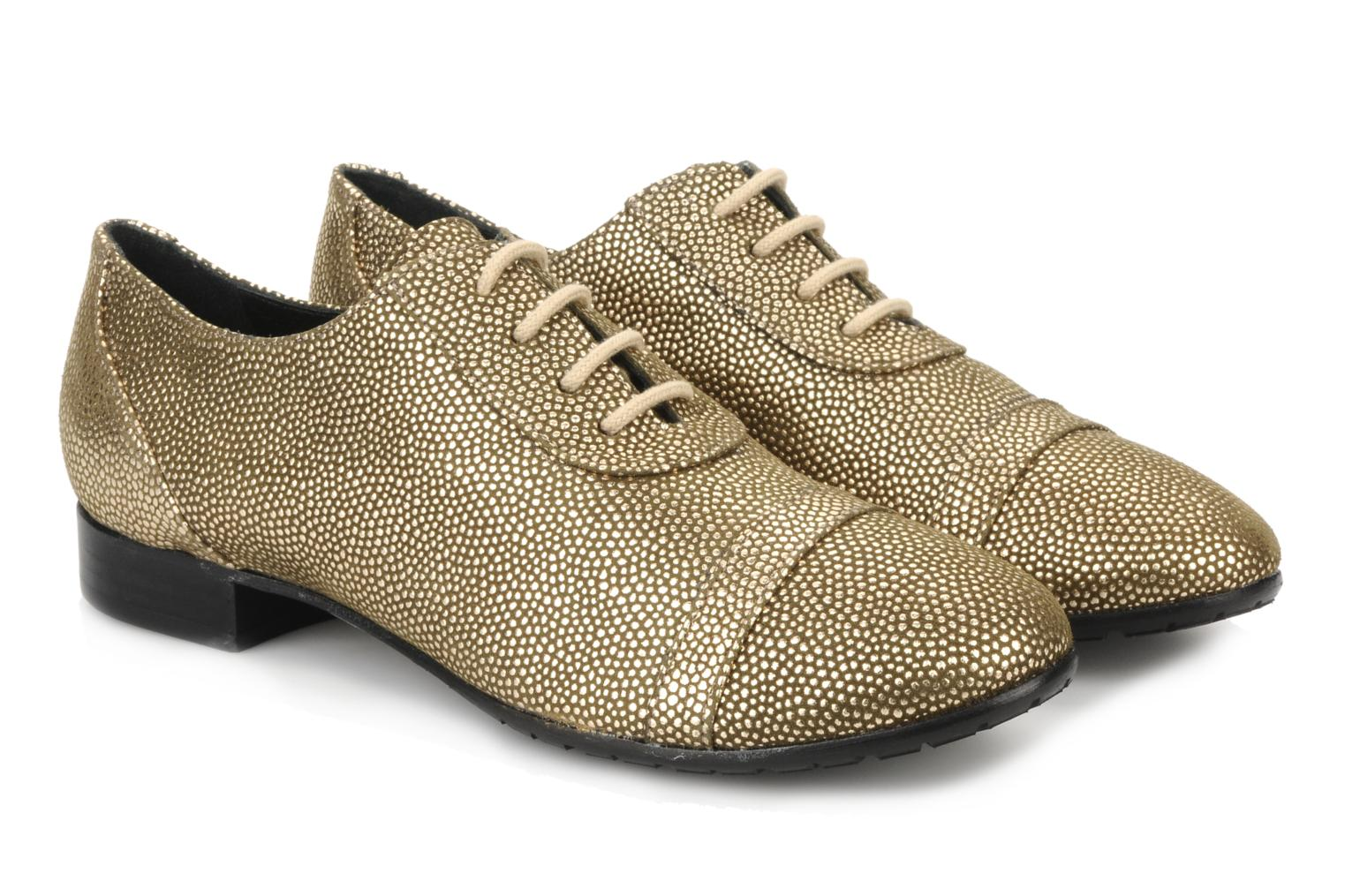 Lace-up shoes Maloles Dorothy Bronze and Gold 3/4 view