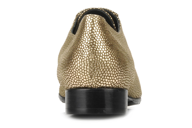 Chaussures à lacets Maloles Dorothy Or et bronze vue droite