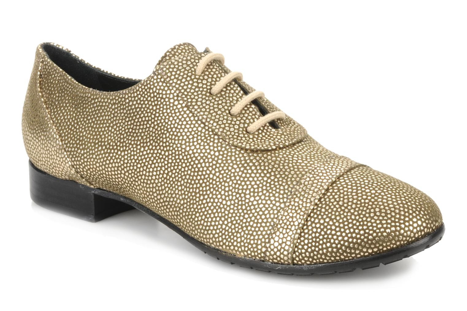 Lace-up shoes Maloles Dorothy Bronze and Gold detailed view/ Pair view