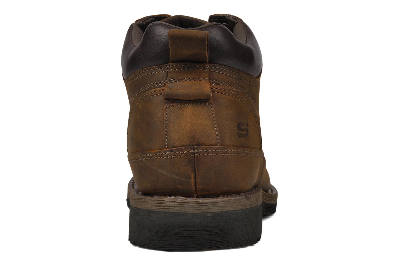 Chaussures à lacets Skechers Shockwaves Regions 61737 Marron vue droite
