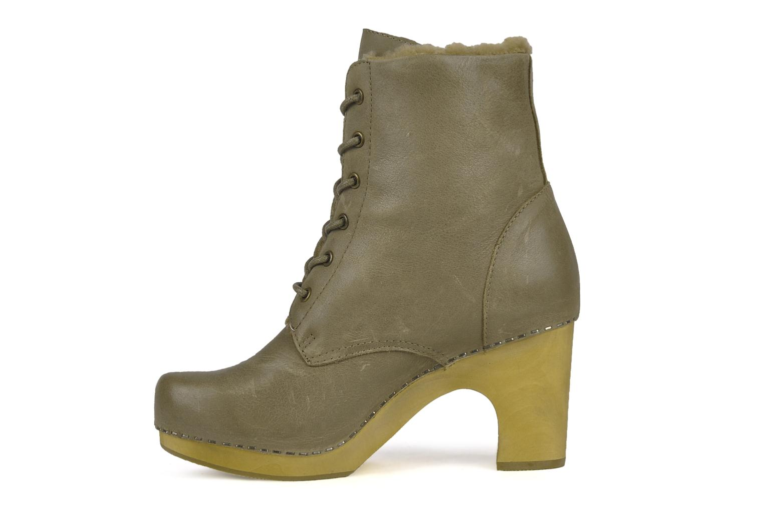 Ankle boots Jeffrey Campbell Erikson Fur Green front view