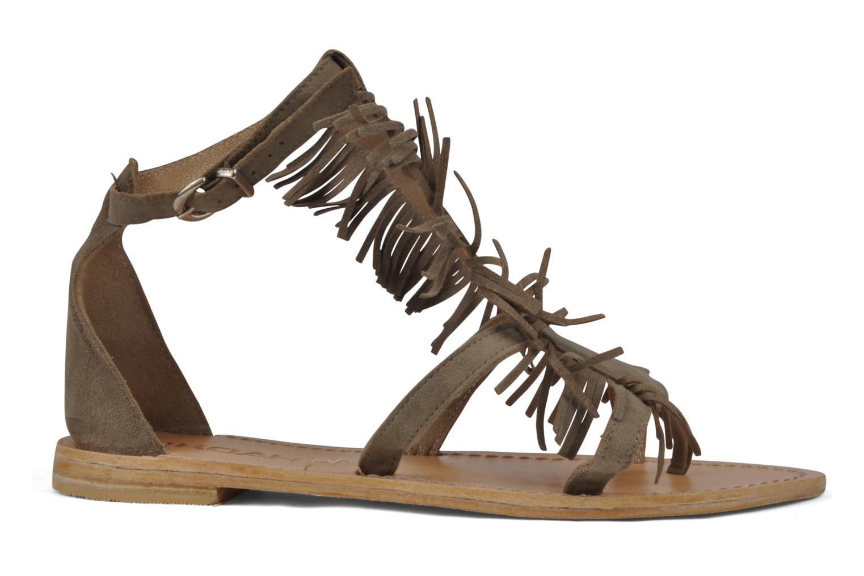 Sandales et nu-pieds Koah Elha Beige vue derrière