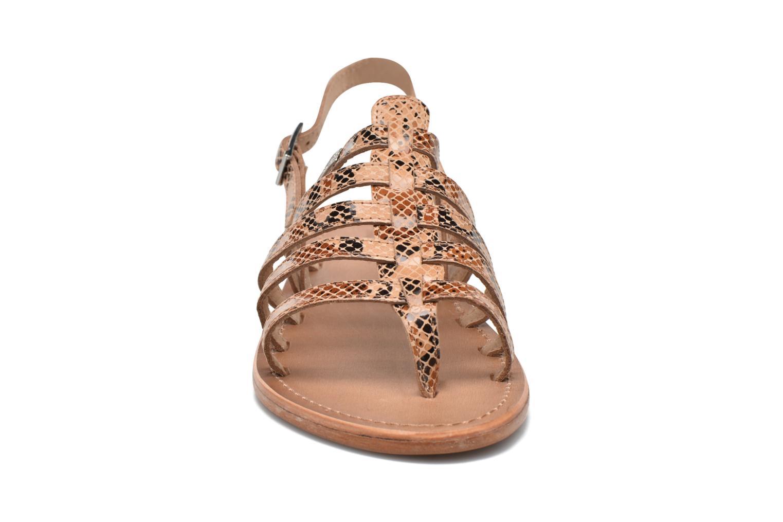 Sandales et nu-pieds Les Tropéziennes par M Belarbi Herisson Beige vue portées chaussures