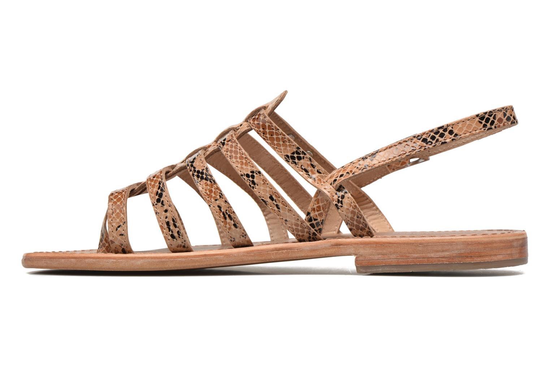Sandales et nu-pieds Les Tropéziennes par M Belarbi Herisson Beige vue face