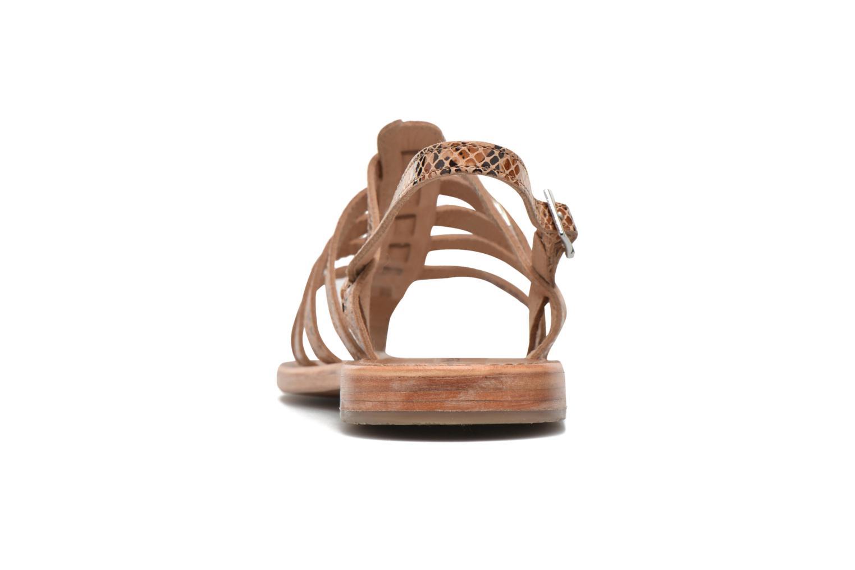 Sandales et nu-pieds Les Tropéziennes par M Belarbi Herisson Beige vue droite