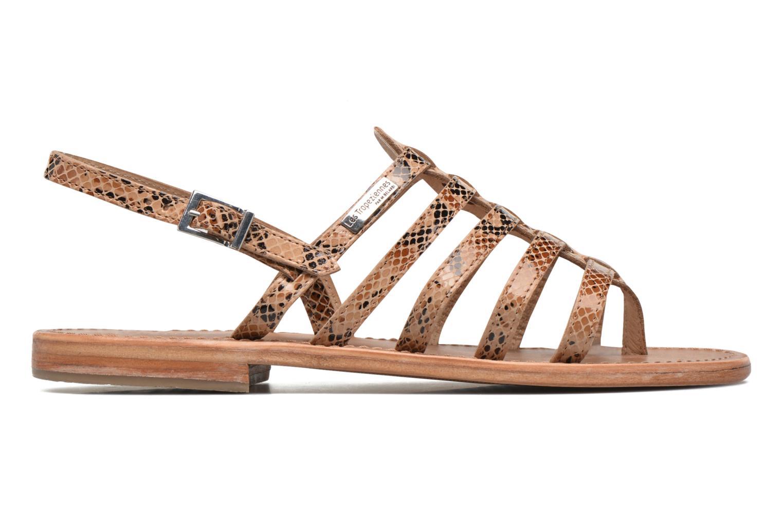 Sandales et nu-pieds Les Tropéziennes par M Belarbi Herisson Beige vue derrière