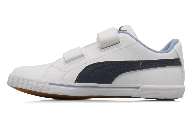 Sneaker Puma Benecio l kids weiß ansicht von vorne