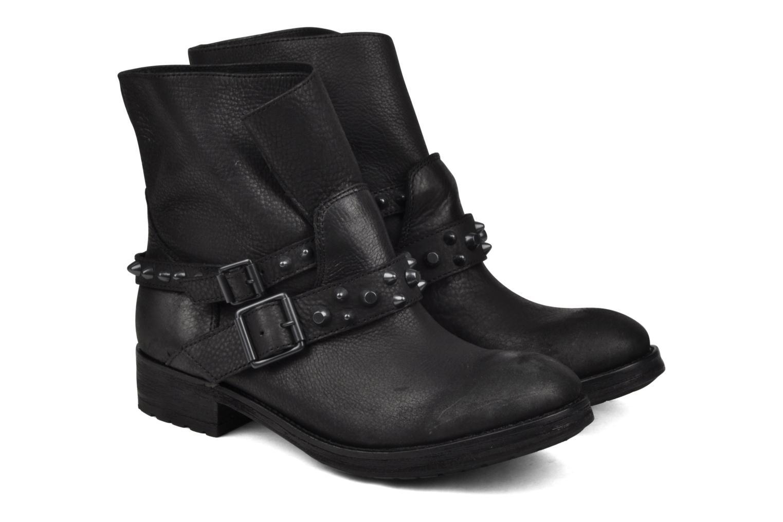 Bottines et boots Ash Reverso bis Noir vue 3/4