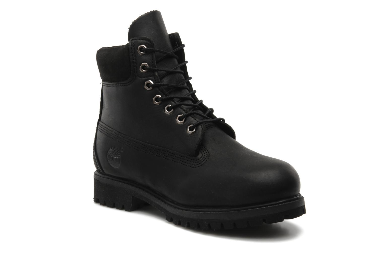 6 inch premium boot Black Smooth