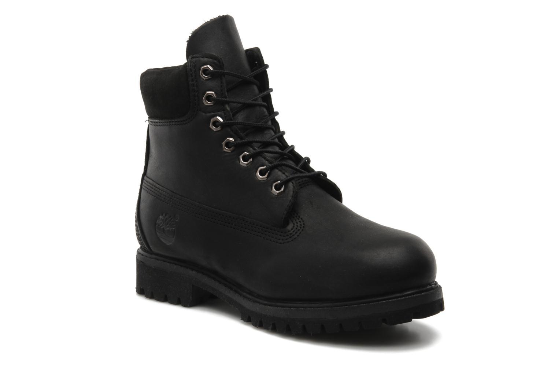 6 inch premium boot Black Smooth