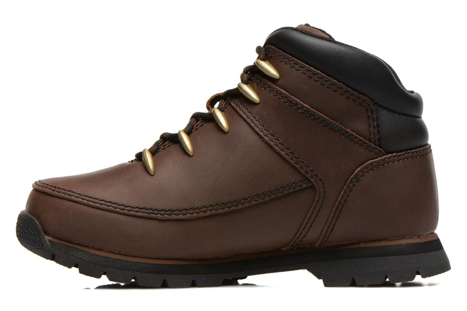 Ankle boots Timberland Euro sprint Kids Brown front view