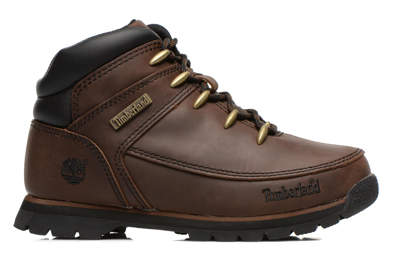 Ankle boots Timberland Euro sprint Kids Brown back view