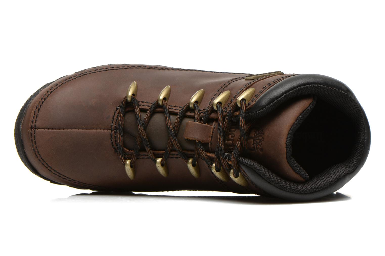 Ankle boots Timberland Euro sprint Kids Brown view from the left