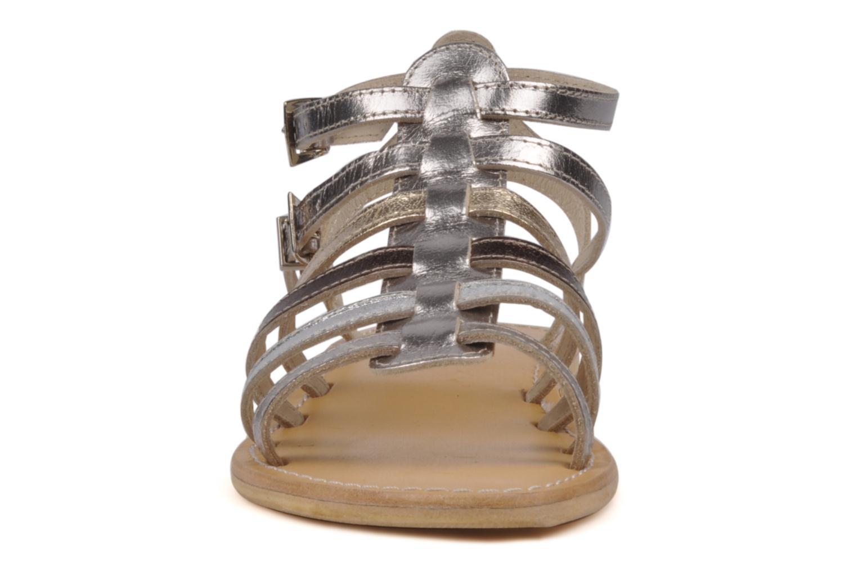 Sandales et nu-pieds Les Tropéziennes par M Belarbi Hic Argent vue portées chaussures