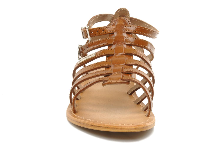 Sandales et nu-pieds Les Tropéziennes par M Belarbi Hic Marron vue portées chaussures