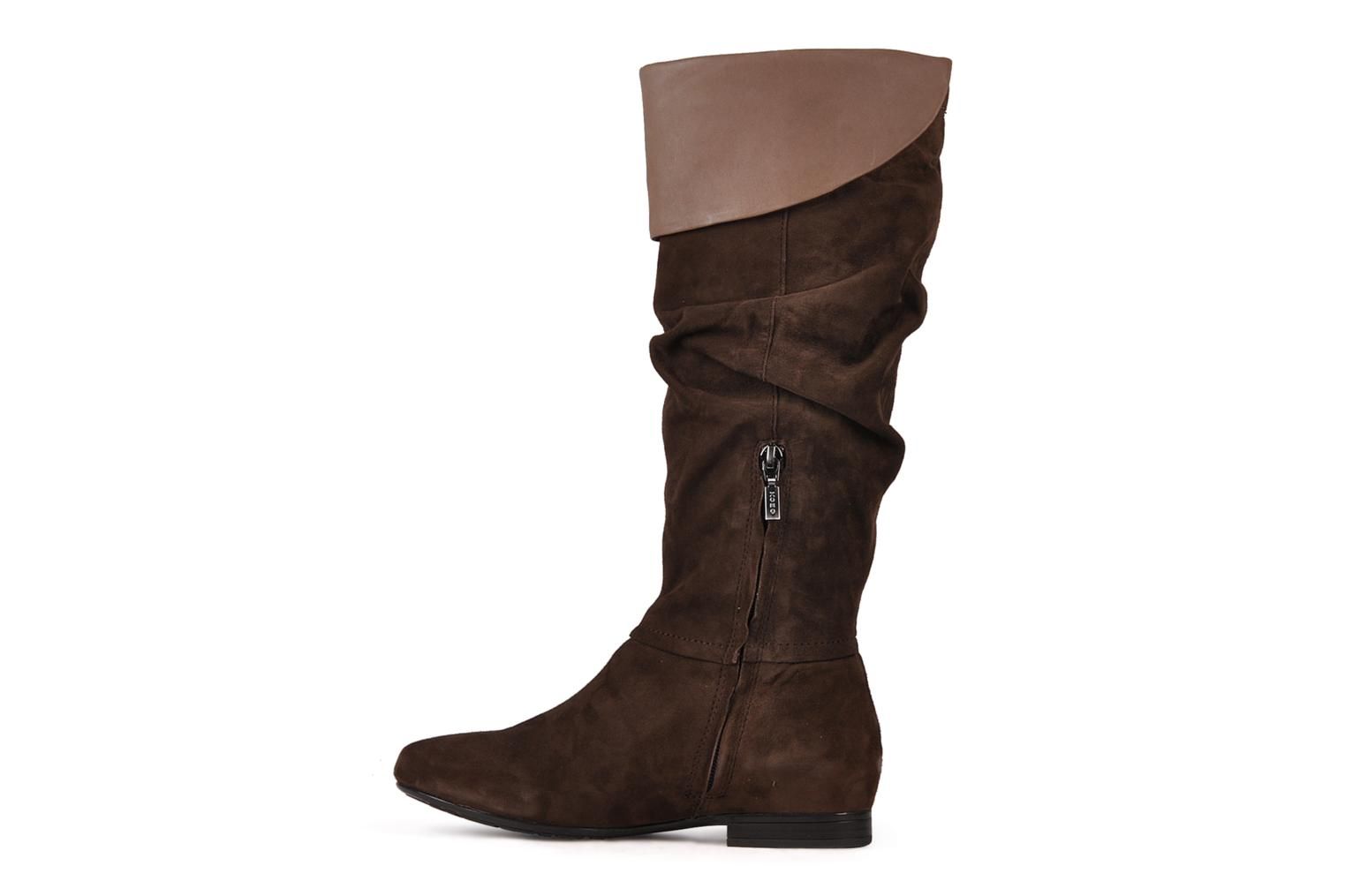 Boots & wellies Geox D judith a Brown front view