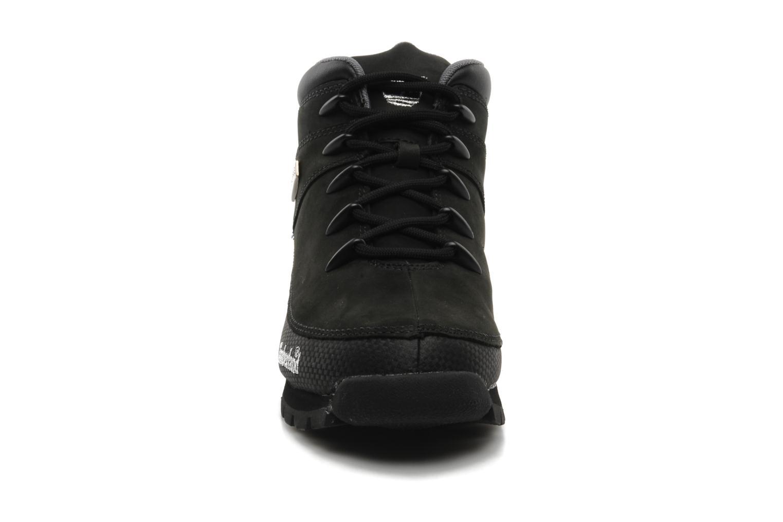 Schnürschuhe Timberland Euro Sprint schwarz schuhe getragen