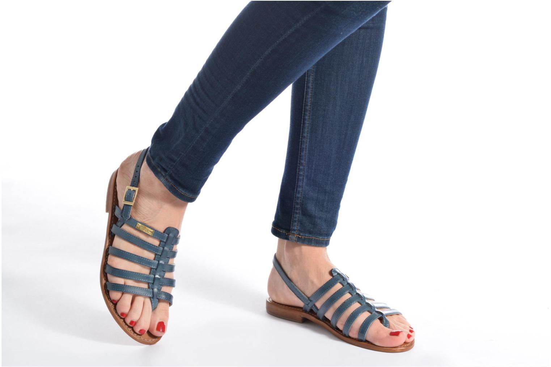 Sandalen Les Tropéziennes par M Belarbi Heriber blau ansicht von unten / tasche getragen