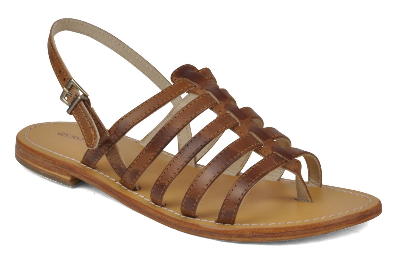 Sandaler Les Tropéziennes par M Belarbi Heriber Brun detaljeret billede af skoene