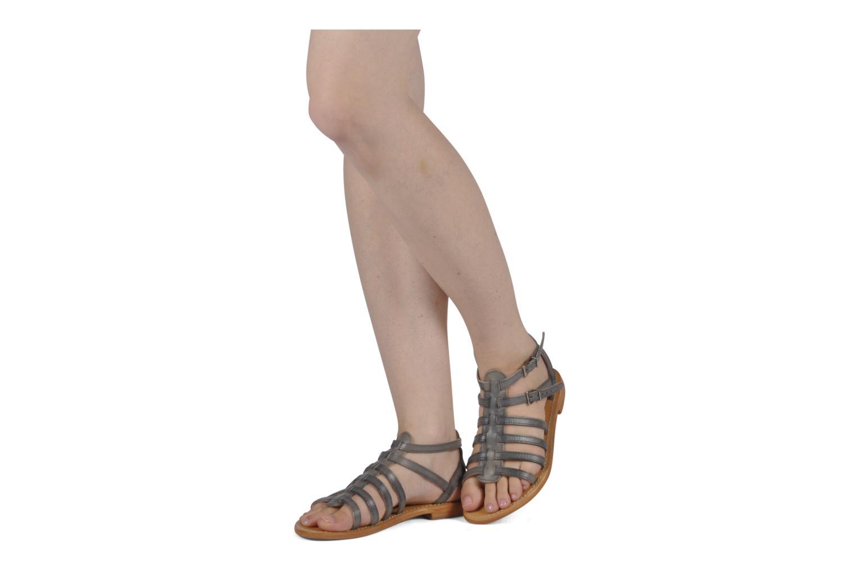 Sandalen Les Tropéziennes par M Belarbi Hicare grau ansicht von unten / tasche getragen