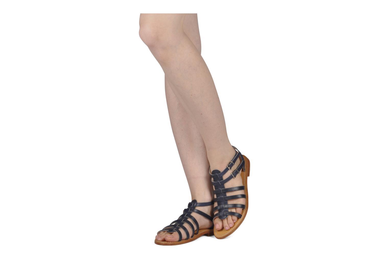 Sandales et nu-pieds Les Tropéziennes par M Belarbi Hicare Bleu vue bas / vue portée sac