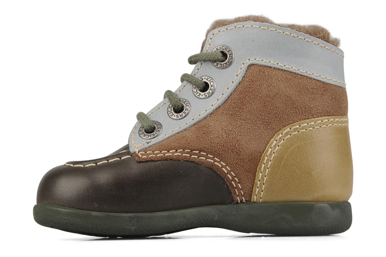 Boots en enkellaarsjes Kickers Babyski Bruin voorkant
