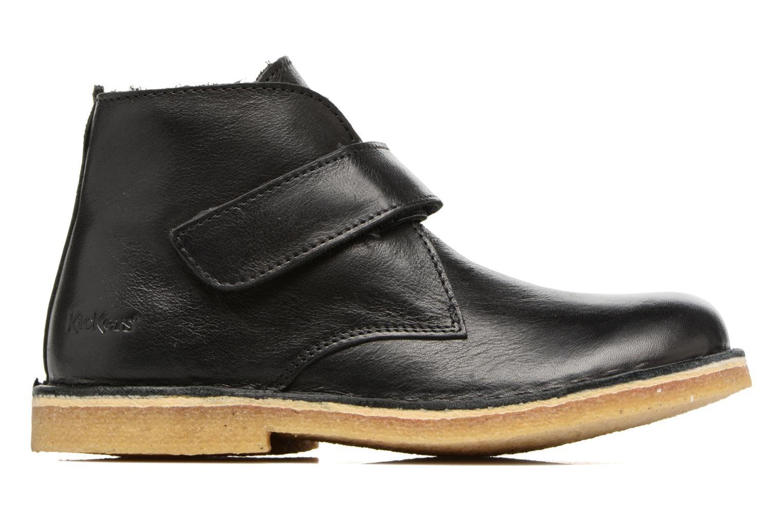 Chaussures à scratch Kickers Rekick Noir vue derrière