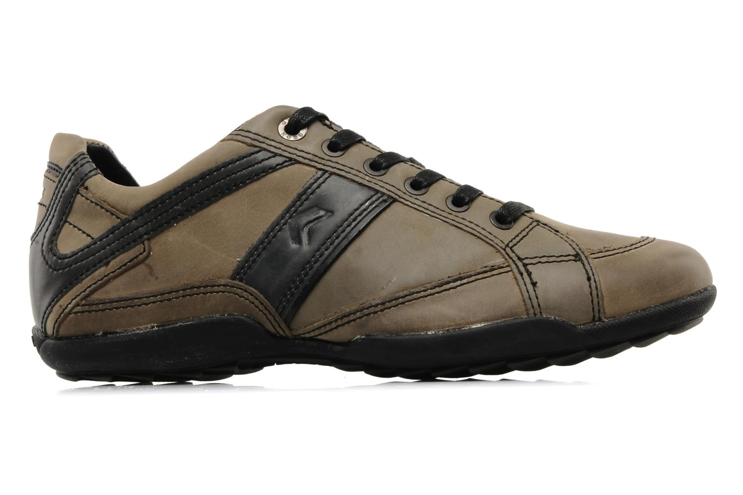 Trainers Geox U pietro r Brown back view