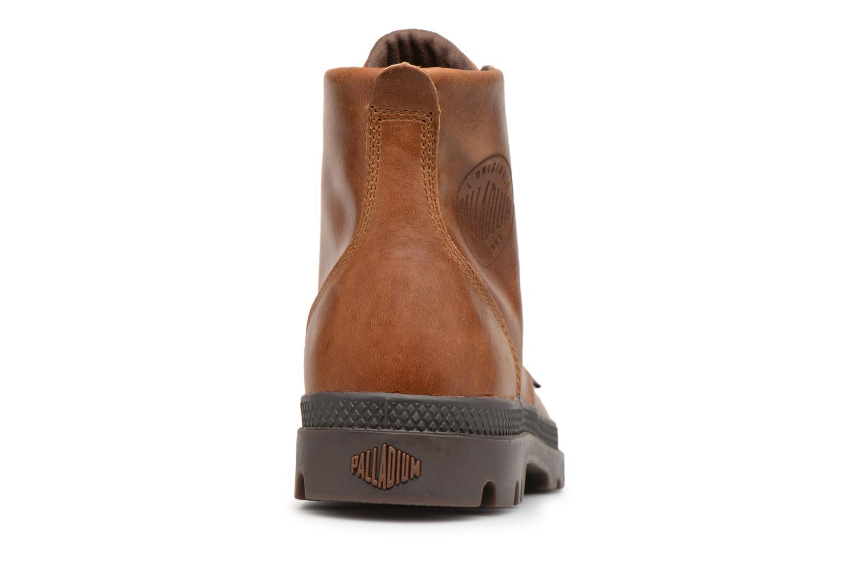 Bottines et boots Palladium Pampa hi leather M Marron vue droite