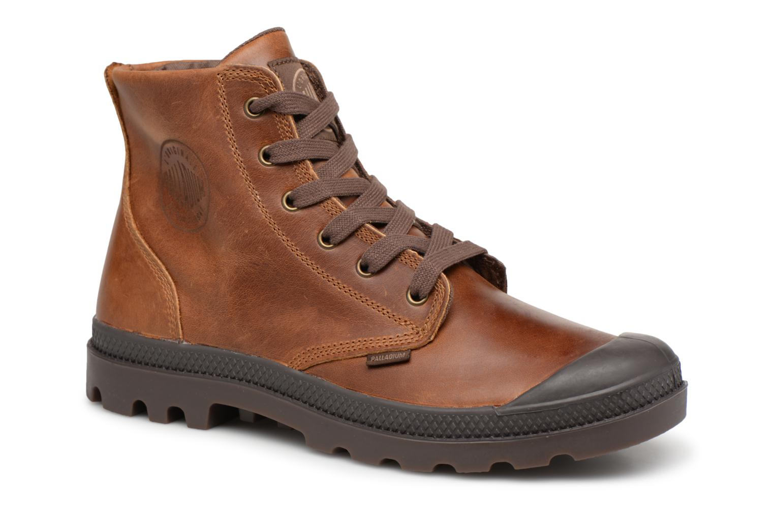 Palladium Pampa hi leather M (Marron) - Bottines et boots chez Sarenza (341951)