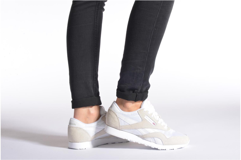 Sneakers Reebok Classic nylon W Bianco immagine dal basso