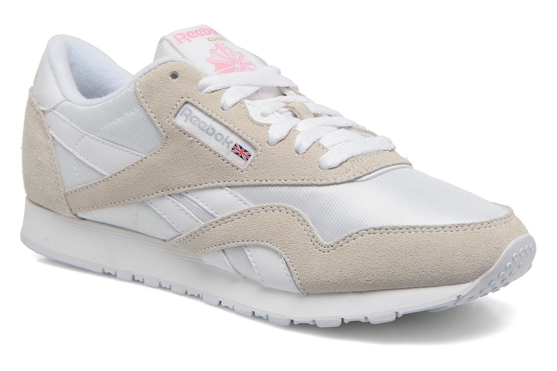 Sneakers Reebok Classic nylon W Vit detaljerad bild på paret