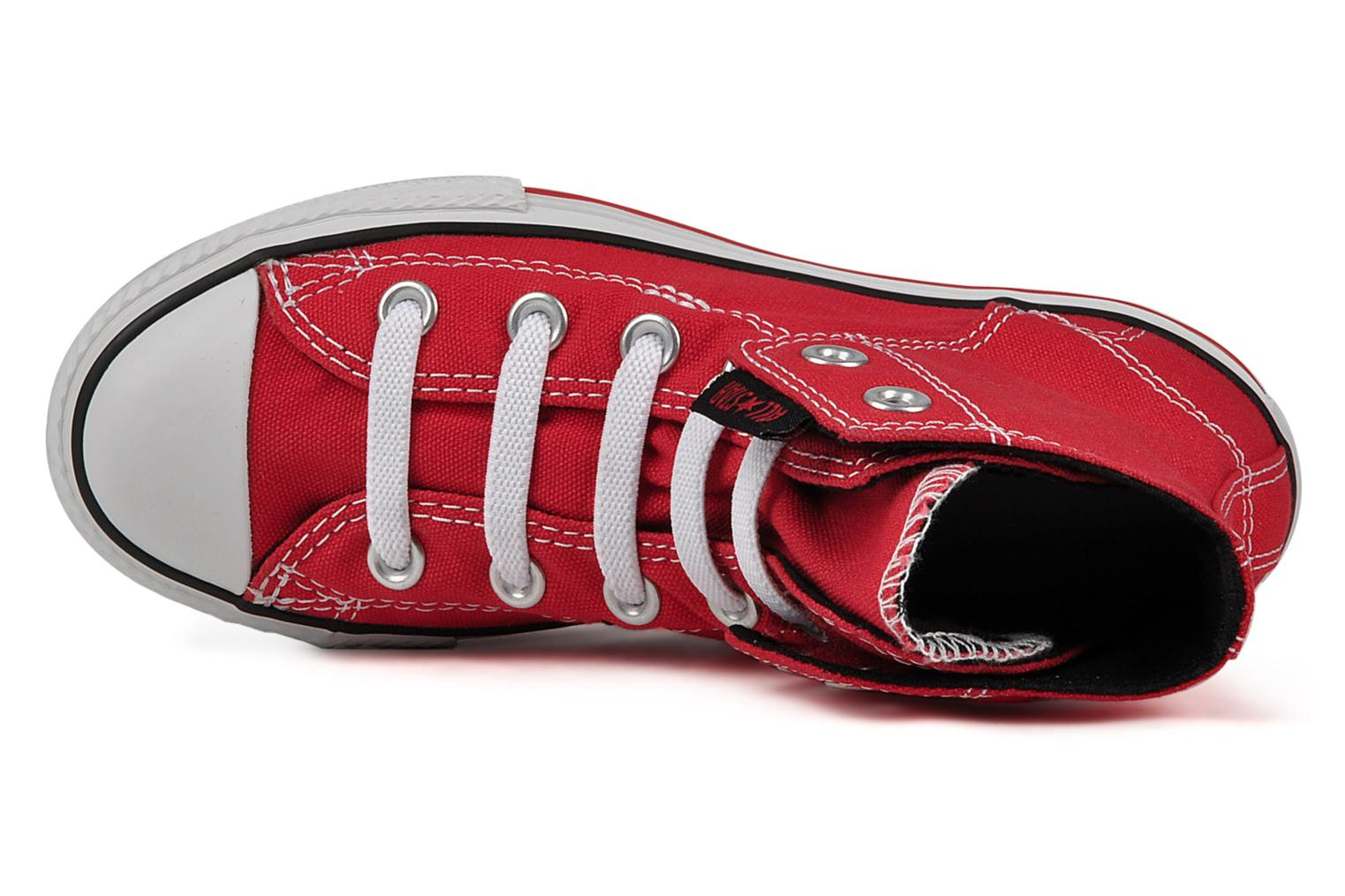 Baskets Converse Chuck taylor all star easy slip hi K Rouge vue gauche
