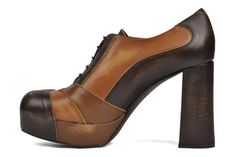 Chaussures à lacets Jeffrey Campbell Alexia Marron vue face