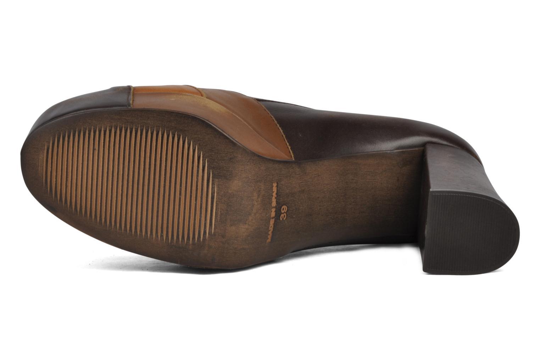 Chaussures à lacets Jeffrey Campbell Alexia Marron vue haut