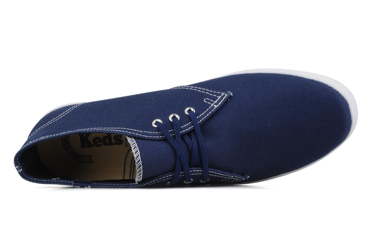 Trainers Keds Chukka Canvas Blue view from the left