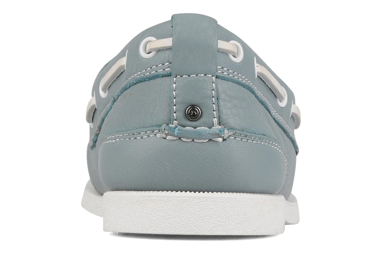 Lace-up shoes Rockport 2 eye boat Blue view from the right