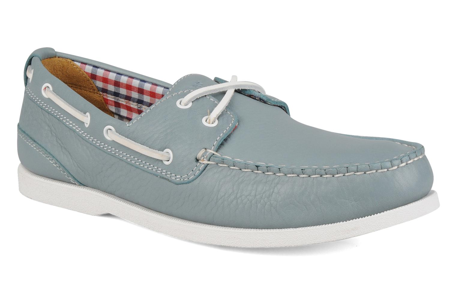 Lace-up shoes Rockport 2 eye boat Blue detailed view/ Pair view