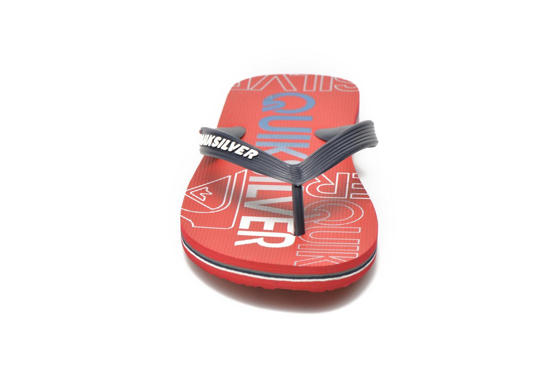 Slippers Quiksilver Molokai nitro Rood model
