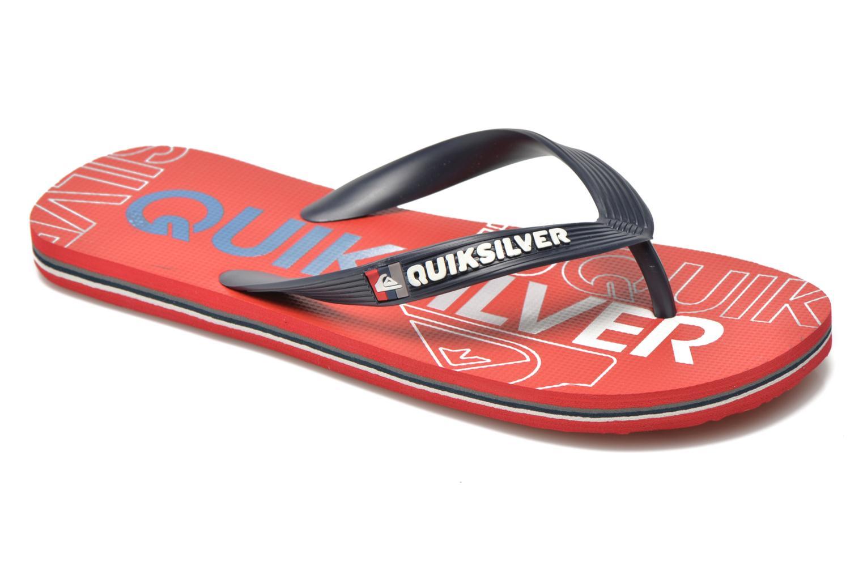 Slippers Quiksilver Molokai nitro Rood detail