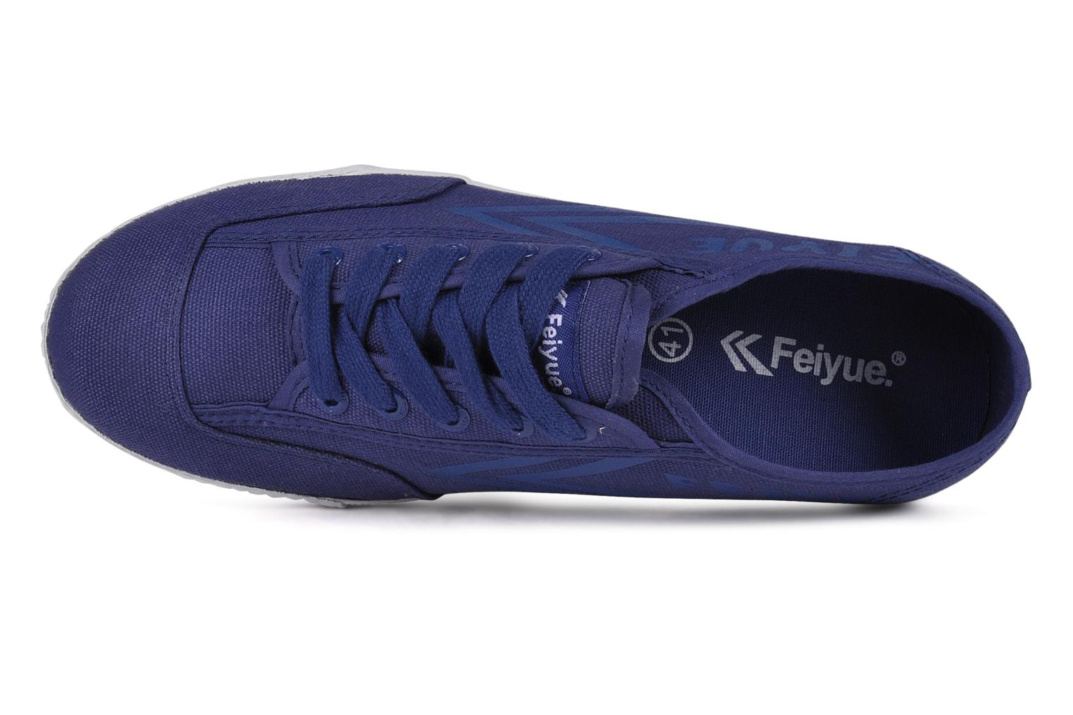 Trainers Feiyue Fe lo plain m Blue view from the left