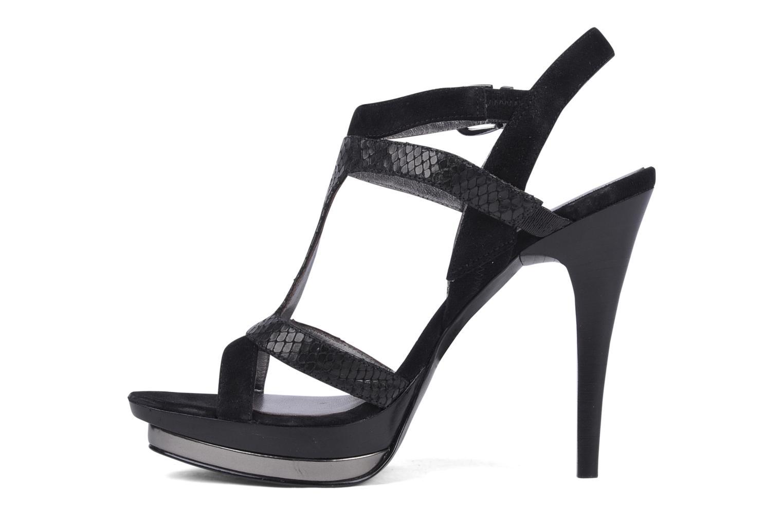 Sandales et nu-pieds Guess Balize Noir vue face