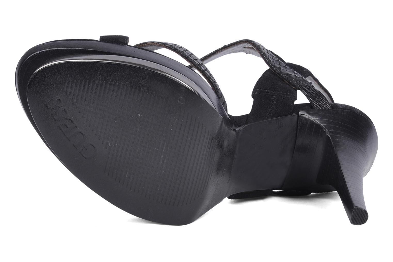 Sandales et nu-pieds Guess Balize Noir vue haut