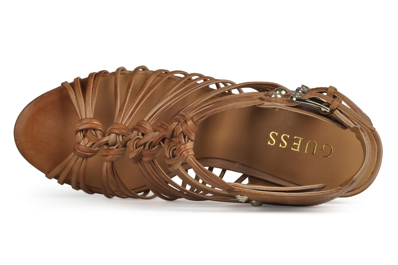 Sandali e scarpe aperte Guess Oblated Marrone immagine sinistra